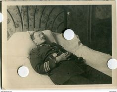 French soldier on his deathbed