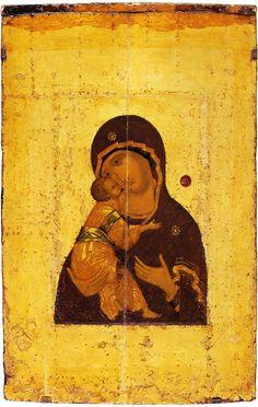 The Virgin of Vladimir. First quarter of the 15th century
