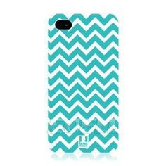 Amazon.com: Ecell - HEAD CASE CYAN CHEVRON PATTERN PROTECTIVE BACK CASE COVER FOR APPLE iPHONE 4 4S: Cell Phones