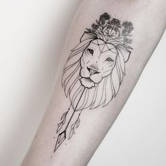 "149 Likes, 2 Comments - VADERS.DYE (@vadersdye) on Instagram: ""One of her beautiful lions. This time more floral. BY MELINA [ @xoxotattoo ] BOOKINGS CLOSED"""