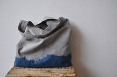 LOVE this indigo dipped market tote, hand dyed by @bookhou design #dye #indigo