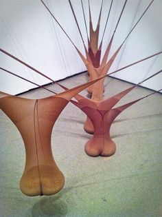 (1977), by Senga Nengudi, Museum of Modern Art, NYC ,. Tights and sand. Click to enlarge