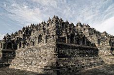 世界遺産 ボロブドゥール寺院遺跡 ボロブドゥール寺院遺跡群の絶景写真画像  インドネシア