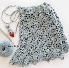 Crochet Shorts Pattern, Crochet Pants, Crochet Skirts, Crochet Motif, Crochet Clothes, Crochet Lace, Crochet Patterns, Beach Crochet, Crochet Bikini