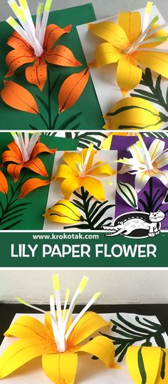 Excellent Photographs flower Crafts for Kids Thoughts Going back to college could be a daunting time frame for almost any child. It is an alteration in ad Kids Crafts, Summer Crafts, Preschool Crafts, Paper Flower Tutorial, Paper Flowers Diy, Flower Crafts, Origami Flowers, Classe D'art, Art Activities
