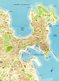 La Coruña mapa  http://www.ociocoruna.es