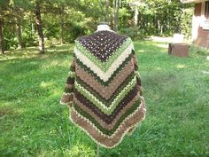 Crochet+Shawl+Earth+Mother+by+SunwynsSundries+on+Etsy