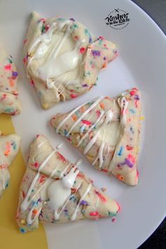 Funfetti Hamantaschen with Cheesecake Filling