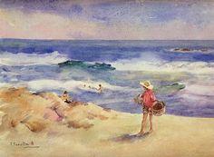 Joaquín Sorolla - Boy on the Sand