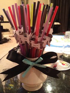 Alice in Wonderland party straws
