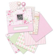 """Little House Baby Girl 12"""" x 12"""" Boxed Scrapbook Kit"""