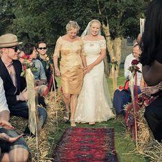 Walking down the aisle wedding farmwedding
