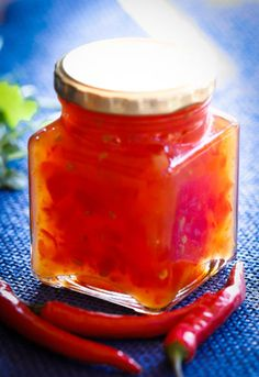 Sometimes you want something with bite, but also fragrant and decadent. This chilli jam is the perfect match for soups, sauces, dipping sauce, chutney. Chilli Jam, Sweet Chilli, West African Food, South African Recipes, Fish Recipes, Vegan Recipes, Recipies, Cook Up A Storm, Stuffed Sweet Peppers