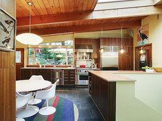 kitchen with cabinets by Kerf #kitchen #mcm #midcenturymodern