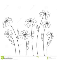 Daisy Flowers Hand Drawn Vector For Background , Decorate, Cover Stock Vector - Illustration of background, botanical: 61297601 Hand Embroidery Videos, Hand Embroidery Designs, Embroidery Art, Embroidery Stitches, Embroidery Flowers Pattern, Flower Patterns, Flower Pattern Drawing, Flower Pattern Design, Flower Doodles