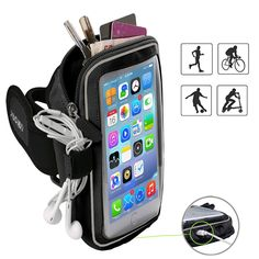 Women Men Reflective Sports Running Stretch Phone Pouch Armband Exercise Anti Slip Side Pocket Elastic Fitness Practical Gym Be Novel In Design Cellphones & Telecommunications