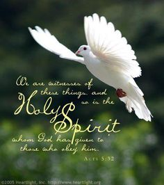 """<3 <3  Acts 5:32 New King James Version (NKJV)  32 And we are His witnesses to these things, and so also is the Holy Spirit whom God has given to those who obey Him."""""""
