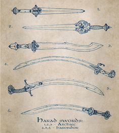 Harad swords by ~Merlkir on deviantART