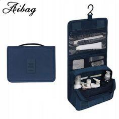 एआईबीएजी यात्रा सेट उच्च गुणवत्ता वाले निविड़ अंधकार पोर्टेबल मैन ट्रैवल टॉयलेटरी बैग महिला फोल्डिंग पाउच केस धोने के लिए बैग लटकाना