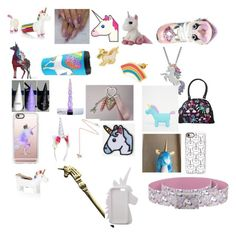 """""""Unicorns for life"""" by fluffyglittery ❤ liked on Polyvore featuring NPW, Damsel in a Dress, Yellow Owl Workshop, Artistique, Elope, Casetify, ASOS, Estella Bartlett, Hipstapatch and Miss Selfridge"""