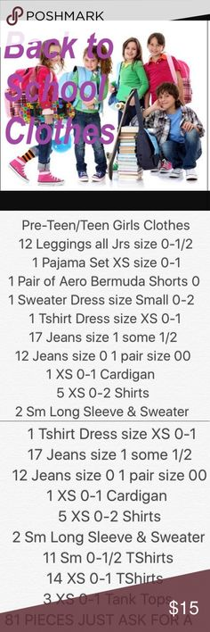 👱🏻♀️BACK 2 SCHOOL MYSTERY BUNDLE SIZE XS/S 0/1 👱🏻♀️ Back 2 School Mystery Boxes Various Brands. Size XS/S 0/1 & all items are smoke free pet free. I have different prices & for each price a certain number of pieces will be included. Ask for $10, $15, or $18 Mystery Box & I'll make you a listing or find a listing that says Mystery Box w/the price you want I'll make you box. Items are in EUC & GUC Sold As Is. Ask any ?'S or for more details read the pic with items or my Mystery Box…