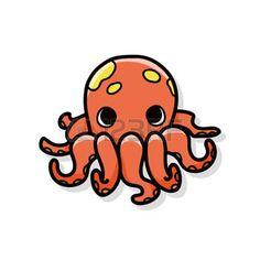 cangrejo caricatura: sea animal octopus doodle Vectores