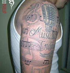 Musik Tattoo Half Sleeve