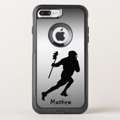 Lacrosse Silver Black Sports iPhone 8/7 Plus Case maryland lacrosse, lacrosse training, lacrosse puns #lacrosse #LacrosseCleats #lacrossedevelopment, back to school, aesthetic wallpaper, y2k fashion Lacrosse Quotes, Lacrosse Gear, Teen Wolf Lacrosse, Iphone 8, Apple Iphone, Lacrosse Sticks, Cool Cases, Synthetic Rubber, Protective Cases