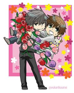 Usami Akihiko x Misaki Takahashi / Junjou Romantica Koi, Junjou, Animes Wallpapers, Chibi, Otaku, Manga, Kawaii, Romantic, Cosplay