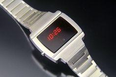 Sanyo LED Saul Goodman, Nerd Chic, The Last Laugh, Led Watch, Bulova, Retro Futurism, Digital Watch, Briefcase, Casio