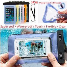 100% sellado a prueba de agua bolsa de la caja del teléfono fundas para iphone 6/6 plus/5S samsung galaxy s6/s5/s4/samsung note la mayoría de los teléfonos