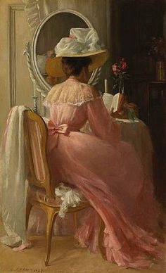 """A Lady in Pink"", 1899 / Patrick William Adam Victorian Art Reading Art, Woman Reading, Reading Time, Reading Books, Victorian Art, Victorian Women, Victorian Paintings, Pink Ladies, Lady In Pink"