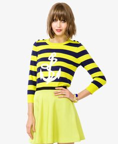 Striped Anchor and Rope Pullover    $19.80