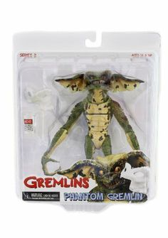 NECA Gremlins - Phantom Gremlin Action Figure by NECA. Save 6 Off!. $17.90. Great quality figure from Neca. Includes 13 points of articulation. Includes detailed movie accessories. From the Manufacturer                After having his face horribly burned by acid, the Phantom Gremlin picked up a mask and one of the movie's best parodies was born.Figure comes with his own mask and the acid jar.                                    Product Description                The villainous Gremlin...