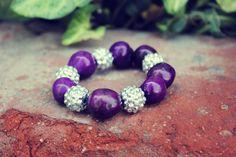 Items similar to Tagua Nut Beaded Bracelet - Purple on Etsy Beading Projects, I Shop, Beaded Bracelets, Beads, Purple, Creative, Handmade, Stuff To Buy, Etsy