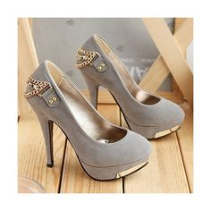 Women's High-Heeled Shoes with Chain,Thin High Heel Platform... via Polyvore