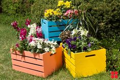 Wooden Crate Planters project