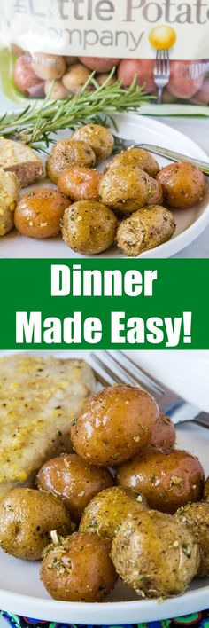 #AD: It is time to re-think dinner! Weeknight cooking doesn't have to be stressful. You can make it tasty, nutritious and EASY thanks to The Little Potato Company Creamer potatoes! There is no washing or peeling involved, and they can be ready in just minutes.    Little potatoes are versatile enough, so you can add them to a sheet pan meal, roast Stress-free weeknight cooking is a thing thanks to @LittlePotatoCo Best Side Dishes, Side Dish Recipes, Delicious Dinner Recipes, Appetizer Recipes, One Pot Meals, Easy Meals, Easy Cooking, Cooking Recipes, Best Potato Recipes