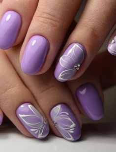Nail art Christmas - the festive spirit on the nails. Over 70 creative ideas and tutorials - My Nails Purple Nail Art, Purple Nail Designs, Fall Nail Designs, Purple Wedding Nails, Cheetah Nail Designs, Acrylic Nail Art, Acrylic Nail Designs, Stylish Nails, Trendy Nails