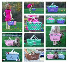 $26 - $38 Personalized Easter Baskets  www.perfect-pair.com