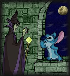 Maleficent and Stitch by andy-pants.deviantart.com on @deviantART