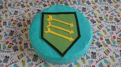 Kyo's 9th birthday: Nexo knights shield.