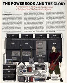 Christian Olde Wolbers (Fear Factory) Guitar Rig - 2005 Guitar World Guitar Rig, Acoustic Guitar, Fear Factory, Guitar Books, Learn Something New Everyday, All About Music, Never Stop Learning, Playing Guitar, Rigs