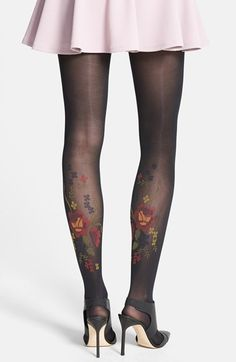 Floral Tattoo tights