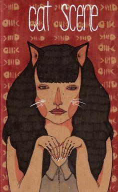 Cat Scene Moleskine Journal. S)