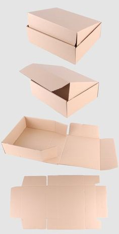 These boxes are ideal for the safe shipping of all types of media, e. CDs, DVDs, Blu-Rays, books a Diy Gift Box, Diy Box, Diy Crafts For Gifts, Paper Crafts, Cardboard Box Crafts, Paper Box Template, Box Patterns, Jewelry Packaging, Clothing Packaging