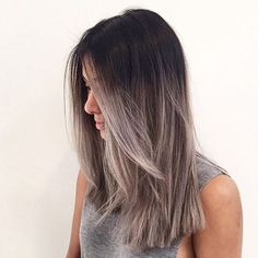 I love my black hair, but i think this is gonna be next  Yes or No?? #greyombre #contrast