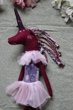 Unicorn Doll Star Dancer with Tutu Raggedy by libertylavenderdolls