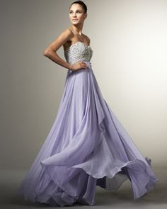 lovely color and dress, marchesa