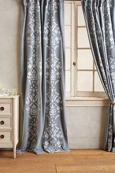 Find your new favorite home piece when browsing sale furniture and home decor at Anthropologie. Shop sale furniture, bedding, rugs, kitchen accessories & more. Style At Home, Stenciled Curtains, Home Curtains, Of Wallpaper, Furniture Sale, Decoration, My Dream Home, Home Accessories, Home Goods